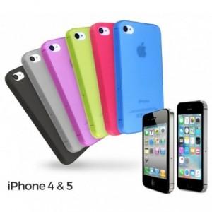 Set de 6 coques pour iPhone 4 / 4S et 5 / 5S en plastique (4 / 4s)