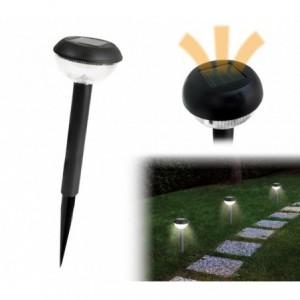 52783 Set de 4 lampes LED 25 cm à énergie solaire blanche froide