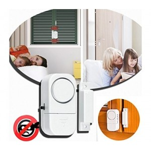 Alarme porte / fenêtre sans fil 90dB - Protection de la maison - Anti Voleur Dhom Tech