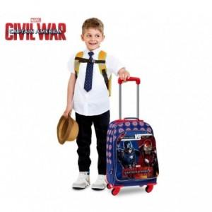 4722851 Sac à dos convertible en chariot Captain America VS Iron Man