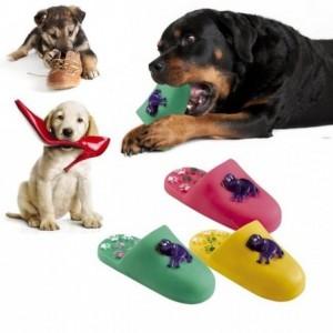 Jeu pour ramener les animaux - Pantoufle - 17 cm sonores en caoutchouc souple pour chiens et chats - Scarpa