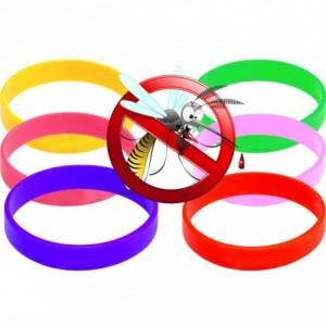 Bracelet anti-moustiques - en silicone parfumé - deux mesures pour adultes et enfants - efficaces contre moustique