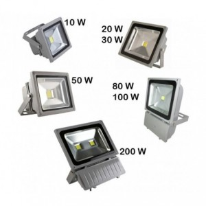 Phare - Projecteur LED lumière froide blanche 10w 20w 30w 50w 80w 100w 200w