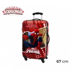 4451551 Chariot valise -Bagage à main rigide en ABS SPIDERMAN 67X42X24