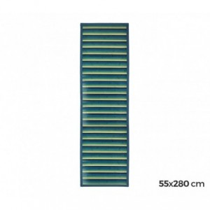 159231 Tapis en bambou naturel multicolore 55 X 280 cm (Bleu)