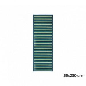 159224 Tapis en bambou naturel multicolore 55 X 230 cm (Bleu)