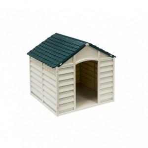 315917 Niche pour chien en forme de maison en résine 72 X 71,5 X 68 cm