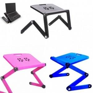 Table pliante pour ordinateur portable ou PC avec ventilateur de refroidissement