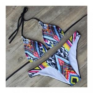 Bikini Modèle Anouk fantaisie ethnique avec rembourrage amovible - S