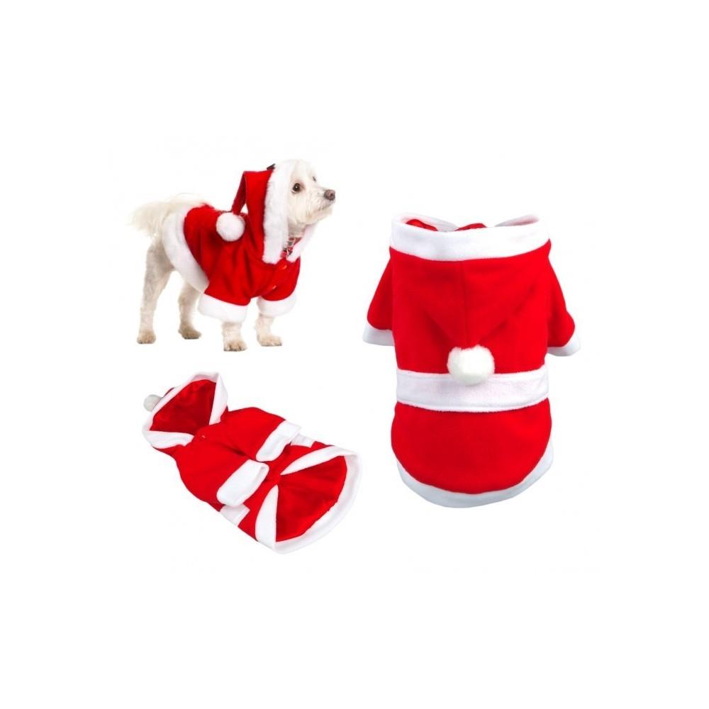 5775 d guisement de pere no l avec capuche pour chiens. Black Bedroom Furniture Sets. Home Design Ideas