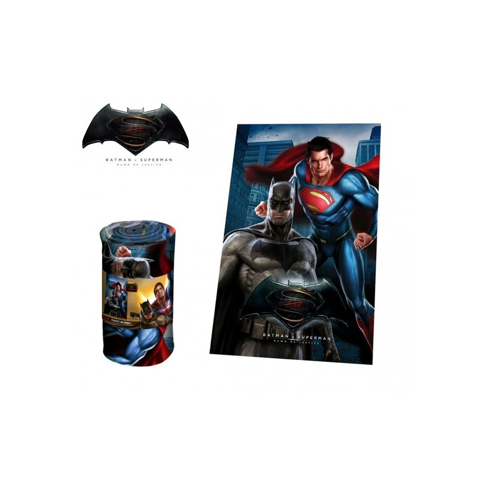 wa16030 couverture polaire douce et chaude batman vs superman 100x150c. Black Bedroom Furniture Sets. Home Design Ideas