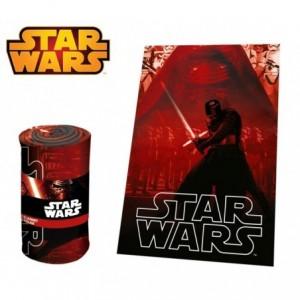 SW92242 Couverture polaire douce et chaude DARK VADOR Star Wars 100 x 150 cm