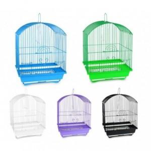189078 Cage à oiseaux de petite taille 51x32x27 cm mangeoires incluses