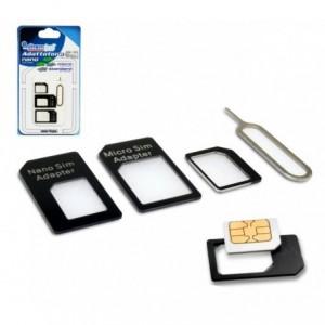 19711 kit adaptateur sim 4 pièces convenant à tous les téléphones et les tablett