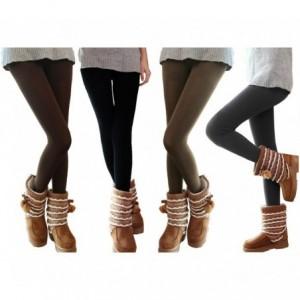 Set de 5 leggings thermiques pour femmes effet polaire ass. Saturne TU