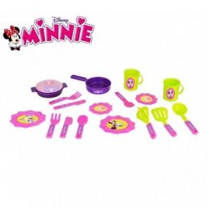 084144 Set de 18 accessoires de cuisine Minnie Disney vaisselle et casseroles