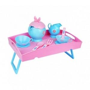087107 Service de thé La Reine Des Neige 2 en 1 avec panier et plateau amovible