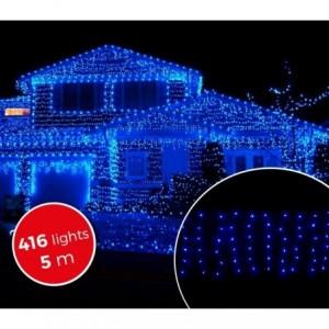 031410 Rideau de lumières de Noël d'extérieur 5mt 416 lumières bleues