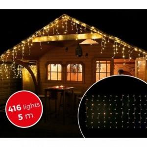 03197 Rideau de lumières de Noël d'extérieur 5mt 416 lumières blanches