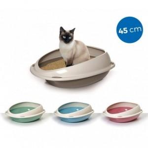 10530 Litière ouverte pour chats SHUTTLE à bords relevés anti-projections 45 cm