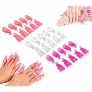 3422 Kit de 10 clips pour enlever gels et semipermanentes des ongles nail-art