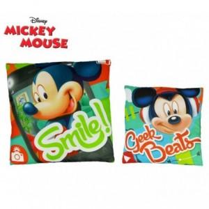 WD16467 Coussin doux 40x40 cm Mickey Mouse GEEK BEATS joyeux et décoratif