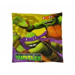 TN16005 Oreiller carré doux et joyeux TEENAGE Ninja Turtles 40x40 cm