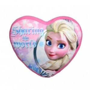 WD16526 Coussin romantique en forme de cœur ANNA ET ELSA La Reine des Neiges