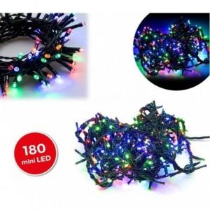 499111 Mini-lumières de Noël multicolores 180 LED 8 jeux de lumières 9,16 m