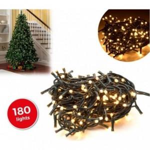013485 Mini-lumières de Noël 180 ampoules blanches 8 jeux de lumières 9,16 m