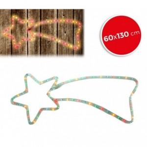 757235 Etoile filante de Noël lumières MULTICOLORES cadre en métal 130 X 60 cm