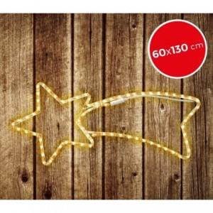 757228 Etoile filante de Noël lumière chaude cadre en métal 130 X 60 cm