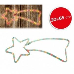 757198 Etoile filante de Noël lumières MULTICOLORES cadre en métal 65 x 30 cm