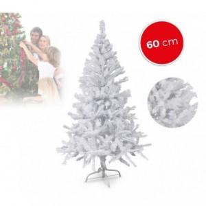 294235 Sapin de Noël artificiel NOEL BLANC haut de 60 cm Blanc 60 branches