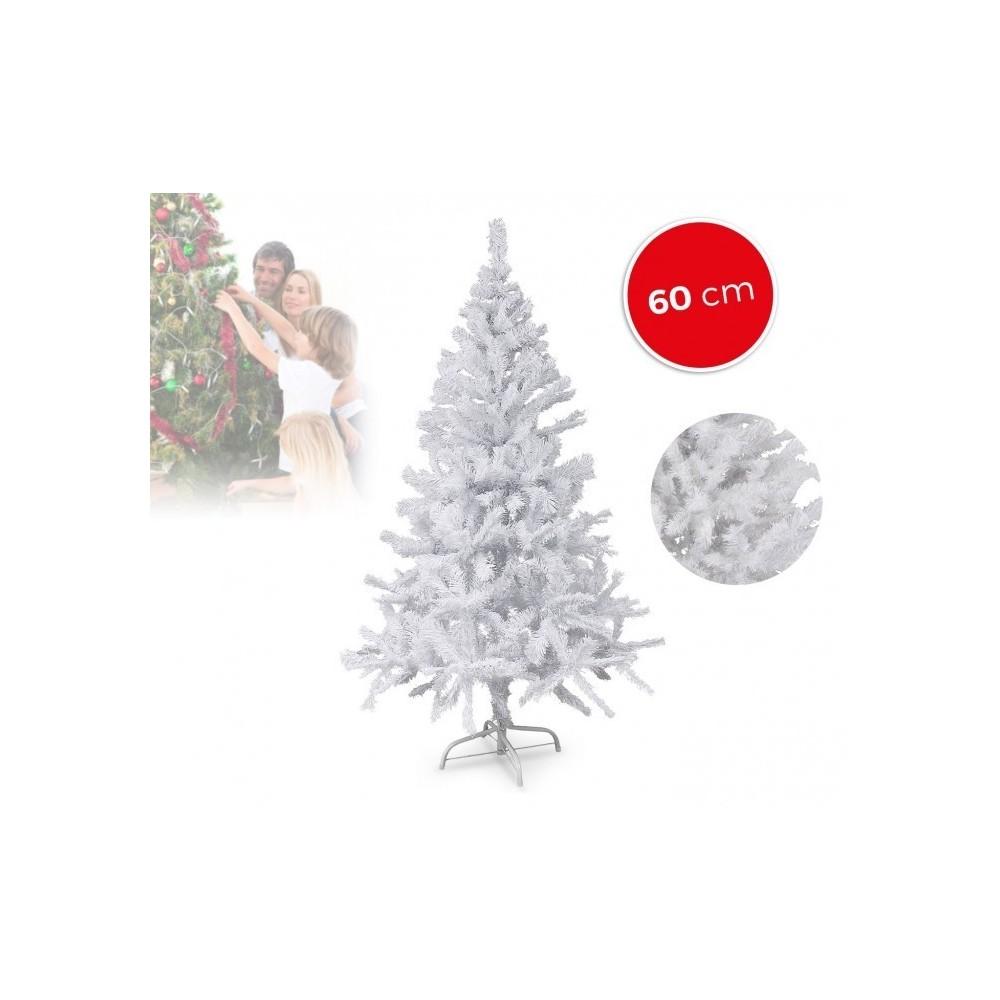 294235 sapin de no l artificiel noel blanc de 60 cm blanc. Black Bedroom Furniture Sets. Home Design Ideas