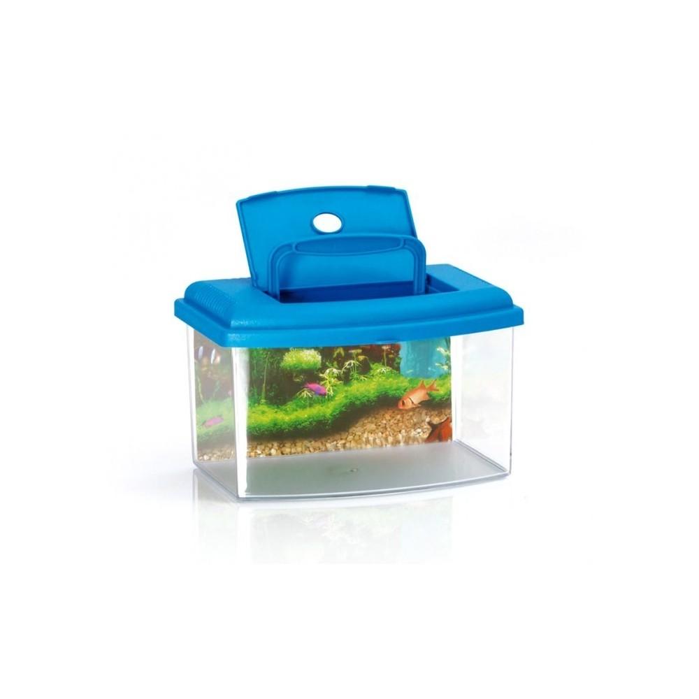 10635 aquarium rectangulaire en plastique rigide 3 l avec couvercle. Black Bedroom Furniture Sets. Home Design Ideas