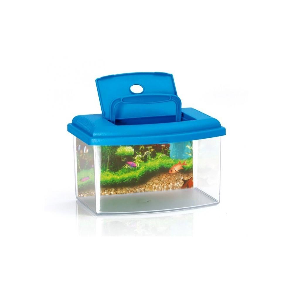 10636 aquarium rectangulaire en plastique rigide 5 5l avec for Couvercle pour aquarium