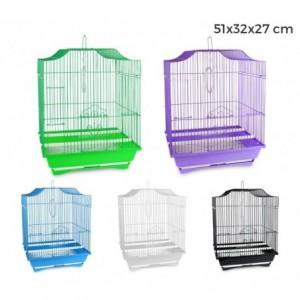 Cage à oiseaux de petite taille 43,5x28,5x22 cm 2 mangeoires