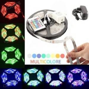Guirlande multicolore lumières LED 5m - 300 72W RGB LED multicolore