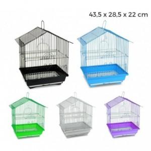 189085 Cage pour oiseaux de petite taille BIRD 43,5 x 28,5 x 22 cm Mangeoires
