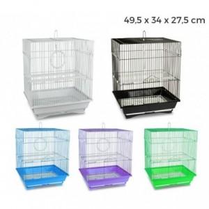 189092 Cage pour oiseaux de petite taille KANDY 49,5 x 34 x 27,5 cm 2 mangeoires