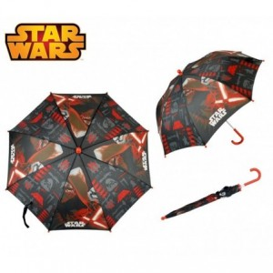 SWE7005 Parapluie pour enfant STAR WARS rouge et noir 57 cm