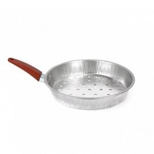 001362 Poêle à châtaignes / marrons 1 manche en aluminium NAPOLEON diamètre 26cm