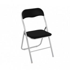 2008AN0816 Set de 2 chaises pliantes colorées ass. Madrid rembourrées base métal