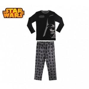 1724 Pyjama pour enfant imprimé Star Wars en coton chaud de 6 à 12 ans