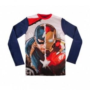1723 Pyjama enfant imprimé Captain America en coton chaud de 6 à 12 ans