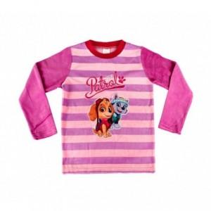 1854 Pyjama enfant fille imprimé Paw Patrol en polaire chaude de 3 à 6 ans