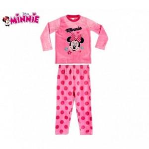 1788 Pyjama enfant fille imprimé Minnie Mouse en polaire chaude de 3 à 6 ans
