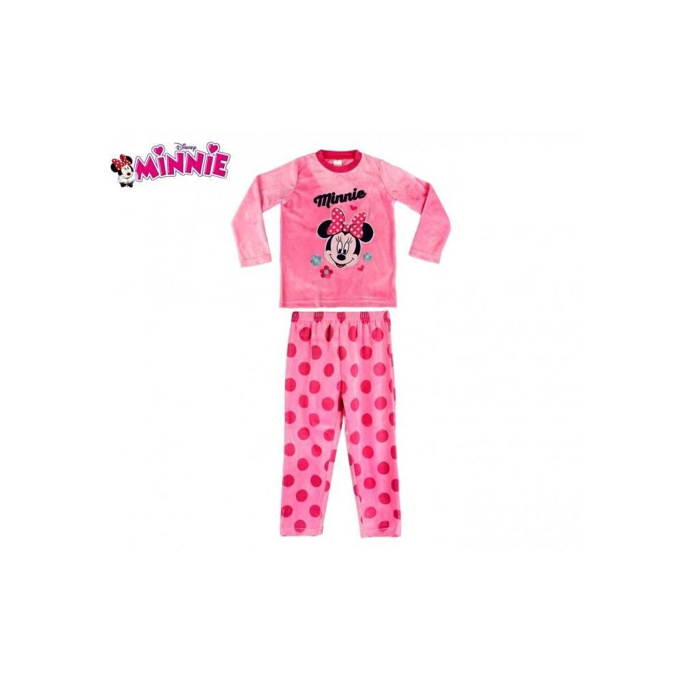 828210 pyjama enfant fille imprim minnie mouse en polaire chaude de 3. Black Bedroom Furniture Sets. Home Design Ideas