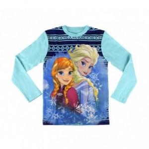 1731 Pyjama enfant imprimé Frozen Anna et Elsa en coton chaud de 4 à 8 ans